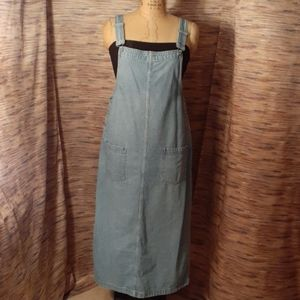 VTG Faded Glory Maxi overall Jean dress